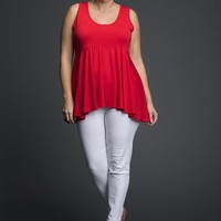Sleeveless Lycra Flaired Top