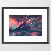 The Lights Framed Art Print by Alice X. Zhang