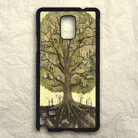 Painting Cartoon Of Tree Samsung Galaxy Note 3 Case