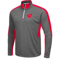 Wisconsin Badgers Colosseum NCAA Men's Atlas Quarter Zip Pullover