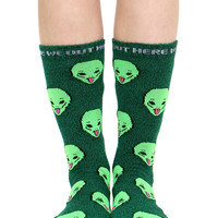 GREEN HEATHER WE OUT HERE SOCKS