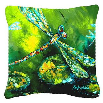 Insect - Dragonfly Summer Flies Canvas Fabric Decorative Pillow MW1128PW1414