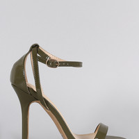 Wild Diva Lounge Criss Cross Ankle Strap Open Toe Heel