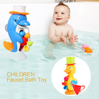 The New Listing Children Faucet Bath Toy Baby Bath Duck Toys In Bathroom Kids Water Spraying Tool Gift For Boys Girls Baby