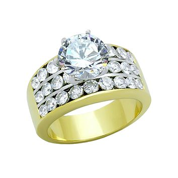 Euphoria - A Mesmerizing Women's Statement Ring With A Cubic Zirconia 3 CT. Eq. Stone
