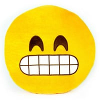 Emoji Gritting Teeth Pillow