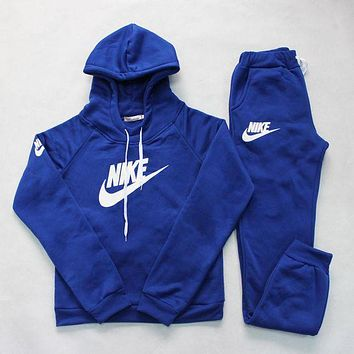 """Nike"" Popular Women Leisure Print Hoodie Top Sweater Pants Trousers Set Two-piece Sportswear I"