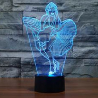 Marilyn monroe 3D  Lamp 8 Changeable Color [FREE SHIPPING]