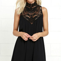 Asana Black Lace Swing Dress