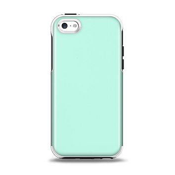 The Subtle Solid Green Apple iPhone 5c Otterbox Symmetry Case Skin Set