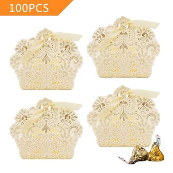 50pcs Mini Suitcase Wedding Favor Candy Box