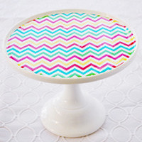 Cake Plate Clings: Colorful Chevron