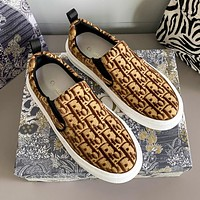 Dior CD new brogue shoes fashion ladies personalized casual shoes