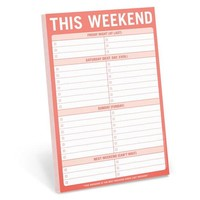 This Weekend (Friday, Saturday, Sunday Funday) Pad in Red