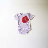 Rose Organic Bodysuit in Lavender