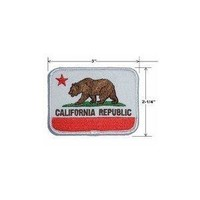 California State Flag Embroidered Patch Iron-On Comes in Pack of 3