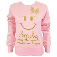 Delicious Couture Delicious Couture Smile Sweater in Baby Pink - Hoodies from Spoiled Brat UK