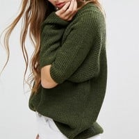 Missguided Cut Out Elbow Sweater at asos.com