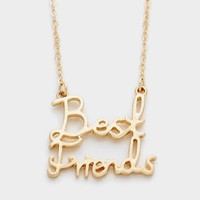Gold Plated Best Friend Necklace for Women