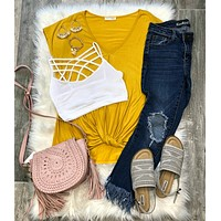 Knotted Top: Mustard