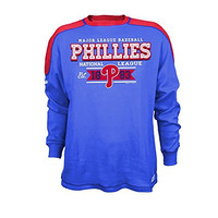 MLB Philadelphia Phillies Men's CVC Thermal Long Sleeve Crewneck Top, Large, Royal