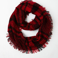 Wrap Song Circle Scarf in Red by ModCloth