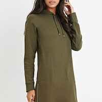 Hooded Side-Zip Dress