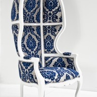 www.roomservicestore.com - Balloon Chair in Flocked Floral Damask