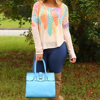 Feather Obsessed Sweater: Multi