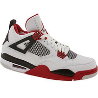 "Nike Mens Air Jordan 4 Retro ""Fire Red"" White/Varsity Red 308497"