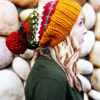 Ainsley Knit Slouch - Fall colors