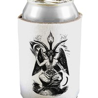 Baphomet Illustration Can / Bottle Insulator Coolers by TooLoud