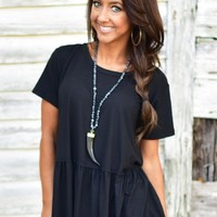 Here To Stay Top in Black | Monday Dress Boutique