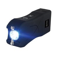 Rechargeable Runt 20,000,000 voltstun gun withflashlight and wrist strap disable pin