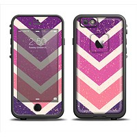 The Purple Scratched Texture Chevron Zigzag Pattern Apple iPhone 6 LifeProof Fre Case Skin Set