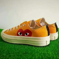 """Converse"" Play Orange Fashion Canvas Flats Sneakers Sport Shoes G-AD-XZ"