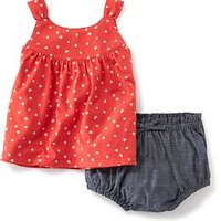 2-Piece Shirred Tank & Bloomer Set for Baby
