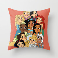 Disney ladies Throw Pillow by Little People