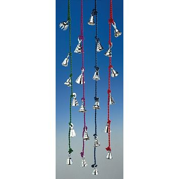 Amazing Chime of 4 to 6 Chrome Bells 1.5 to 2 Inches High on Six Strings