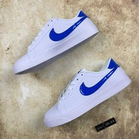 DCCK N079 Nike Court Royale Causal Skate Shoes White Blue