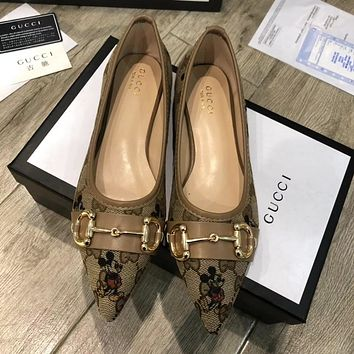 Gucci new pointed Mickey Mouse shoes