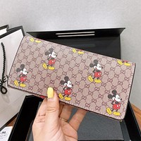 GUCCI & Disney New fashion mouse more letter print wallet purse handbag