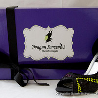 """Maleficent """"Dragon Sorceress"""" Couture Style Adult Pair Shoes Dress Shoes Heels Custom Made"""