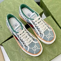 GUCCI Tennis 1977 Embroidered breathable casual sports shoes