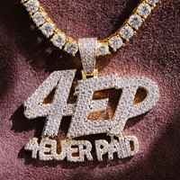 Custom 4ever Paid Slang Iced Out Pendant Tennis Chain