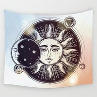Calm Sun & Moon Tapestry