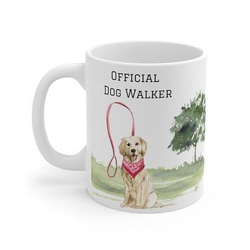 Official Dog Walker Mug — Golden Retriever