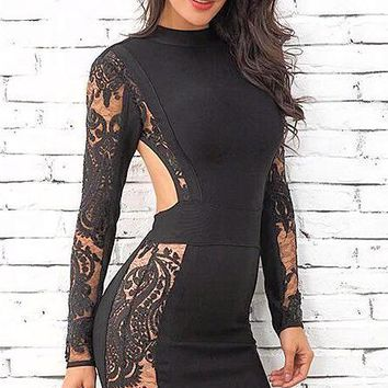 Albany Lace Bandage Dress