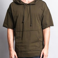 Men's Over Sized Hooded T-Shirt