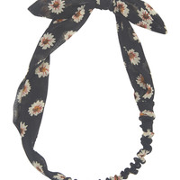 Daisy & Bow Chiffon Headwrap | Wet Seal
